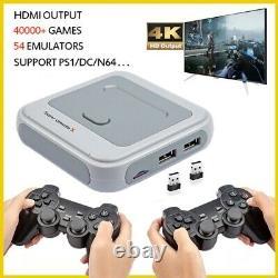 40000 Jeux Hd 4k Hdmi Sortie Retro Video Game Console Emulateur 64g/128g Console