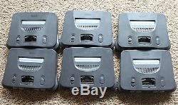 6 Nintendo 64 N64 Console Systems Authentique Nus-001 États-unis Retro Gaming Lot Teste