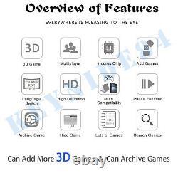 8000 Jeux 3d Pandora Box Double Sticks Arcade Console Machine Jeux Vidéo Rétro