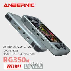 Anbernic Rg350m Retro Portable Console De Jeux 3.5 Ips 2500 Jeux + 32g Carte Sd
