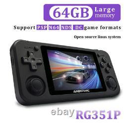 Anbernic Rg351p 64 Bits Rétro Console De Jeux Vidéo 2543 Jeux Psp Soutien Jeux N64