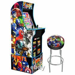 Arcade 1up Marvel Vs Capcom Rétro Wifi Cabinet Riser Lit Marquee 5 Jeux En 1