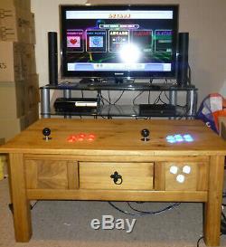 Arcade Bois Deux Joueurs Rétro Console Machine Jeux 7000+, Raspberry Pi
