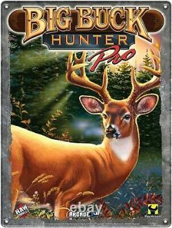 Arcade1up Big Buck Hunter Shooting Game Riser Light Up Marquee Retro Cabinet Nouveau