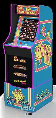 Arcade1up Ms Pacman Retro Jeu Vidéo Cabinet Riser 4 Jeux En 1 Arcade 1up