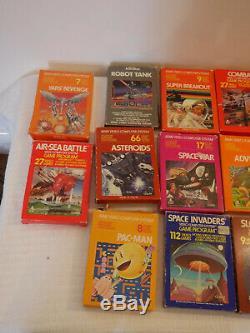 Atari 2600 CX Vcs Retro Console 17games 2 Joysticks 4 Pagaies Woody Vintage Rare