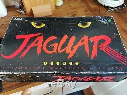 Atari Jaguar Jeu Console, Boxed Avec Bloc D'alimentation D'origine, Le Plomb Av Et Contrôleur Retro