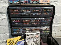 Atari Lynx Énorme Lot 16 Jeux Console Plus Accessoires Grand Rétro