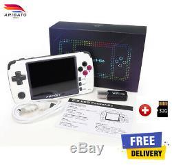 Bittboy Pocketgo V2 Retro Jeu Vidéo Console Portable Gameboy Ps1 Emulator + 32go