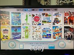 Blanc Nintendo Wii Jeux 200+ Voir Desc Gamecube N64 Nes Retro Emulation