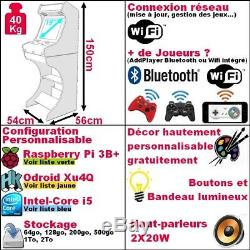 Borne Arcade Bartop + Jeu Rétro Socle Gaming Neuf Personnalisable Garantie