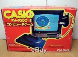 Casio Pv-1000 Computer Game Console 1983 Retro Jeu Vidéo Non Rare Japon Testée