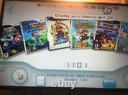 Chargé Nintendo Wii Mod Avec Disque Dur 2 To, 150 + Jeux, Wii Gamecube Jeux + Rétro