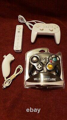 Chargé Nintendo Wii Mod Avec Disque Dur 2 To, 9500 + Jeux, Tous Les Jeux Gamecube + Rétro