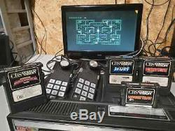 Colecovision Console Et 4 Jeux Âne Vengeresse Souricière Smurf Rétro Travail