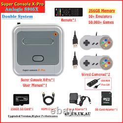 Console Game Super X Pro Retro Video Wifi 4k Hd Mini 50000+ Tv Games Ps1/n64/dc