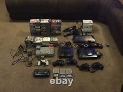 Consoles De Jeux Rétro. Sega Master System Sega Mega Drive X2 Playstation 1 G/gear