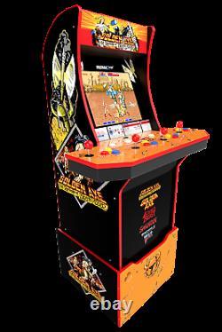 Golden Axe Arcade 1up Retro Cabinet Jeu Vidéo Riser 5 Jeux En 1 Lit Marquee