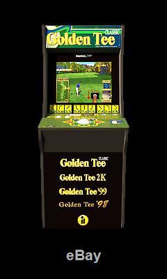 Golden Tee Golf Retro Jeu Vidéo Arcade 1 Up Machine Avec Riser Arcade1up Cabinet
