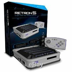 Hyperkin Retron 5 Retro Gaming Vidéo Système 5 En 1 Gris Console De Jeux Vidéo