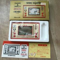Jeu - Regarder Mickey Mouse Nintendo Donald Japan Écran 1981 Et Rétro Wide Cz164