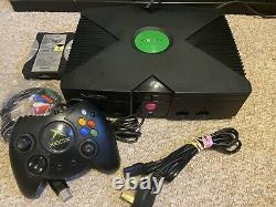 Microsoft Original Xbox V1.0 Black 100+ Jeux Rétro Console