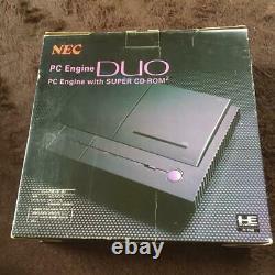 Nec Pc-engine Duo Turbo Duo Console System Pi-tg8 Jeu Rétro Utilisé +3 Logiciels
