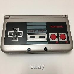 Nintendo 3ds XL Nes Retro Silver Edition Game Lot Charger-testedworks