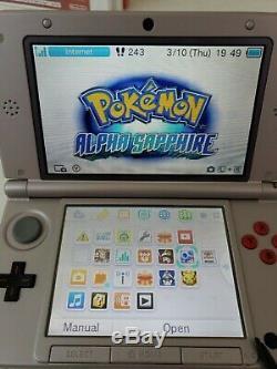 Nintendo 3ds XL Retro Nes Edition Avec Les Nouveaux Jeux, 4 Go De Mémoire Carte & Chargeur! Lis