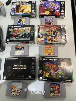 Nintendo 64 Console Bundle Avec 10 Jeux N64 En Excellent État De Travail Retro