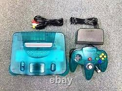 Nintendo 64 Console System Clear Blue Controller Limited 1999 Retro Jeu Vidéo