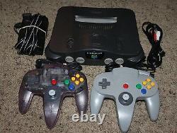 Nintendo 64 N64 Console De Jeux Vidéo Rétro Bundle 2 Contrôleurs Oem Officiel