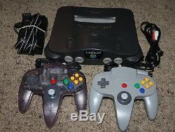 Nintendo 64 N64 Console De Jeux Vidéo Rétro Système Bundle 2 Contrôleur Officiel Oem