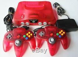 Nintendo 64 N64 Pastèque Rouge Funtastic Rose Console De Jeu Retro Neon Atomique Lot