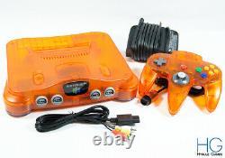 Nintendo 64 N64 Retro Fire Orange Game Console & Controller Bundle! Pal