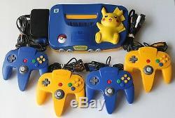 Nintendo 64 Pokémon Pikachu Console Système De Jeu Rétro Enfants Bundle N64 Vintage