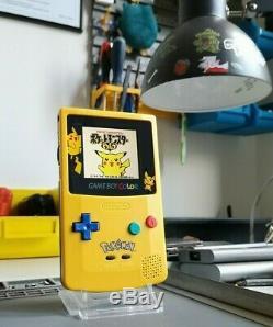 Nintendo Game Boy Color Pokémon Gbc Rétro-éclairage Ips LCD V2 Eclairée Rétro