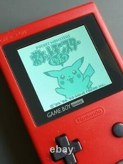 Nintendo Game Boy Pocket Gbp Rétro-éclairage LCD Ips Drôle Jeu Rétro Eclairée
