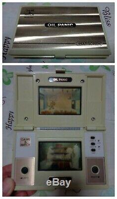 Nintendo Game & Watch Huile De Panique Jeu Et Montre Rétro Dispositif Testé Jeu Utilisé