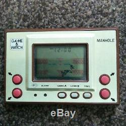 Nintendo Game & Watch Manhole Mh-06 Jeu Et Montre Rétro Appareil Jeu Utilisé Testé