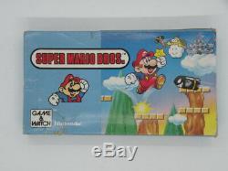 Nintendo Game & Watch Poche Super Mario Bros Console Retro Rare Ym-105 Bx