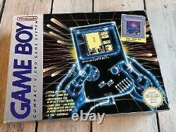 Nintendo Gameboy Boxed 1989 Dmg Modèle Original Retro Vintage Box Gaming Années 90