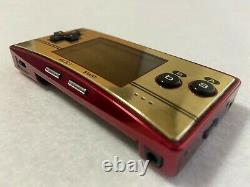 Nintendo Gameboy Micro 20th Anniversary Edition Famicom Jeu Vidéo Rétro Fedex