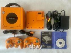 Nintendo Gamecube Orange Japon Cartes Console De Jeux Rétro Game Boy Player
