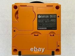 Nintendo Gamecube Orange Japon Console De Jeux Vidéo Rétro 4 Contrôleurs Pcs