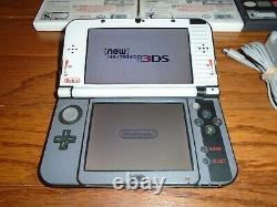 Nintendo New 3ds XL Avec Retro Skin (read) Et 3 Des Meilleurs Jeux Ff Mario Mh