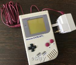 Nintendo Original Game Boy Console De Poche Dmg-01 1989 Rétro Charger & 5 Jeux