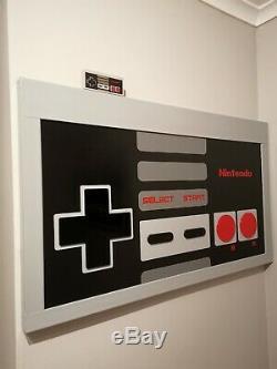 Nintendo Table / Inscription Retro Controller Console Nes Jeux Art Mural Collect