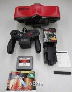 Nintendo Virtual Boy Console Contrôleur Tap Adaptateur + 1games Retro Jeu Japon