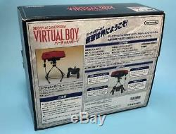 Nintendo Virtual Boy Console System Avec La Boîte 1995 Inutilisé Jeu Rétro Rare Nouvelle